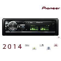 Autoradio Pioneer DEH-X9600BT - Autoradio CDCD-R MP3WMAAAC - iPhoneiPodAndroid - 2 USBBT - 3RCA - 4x50W