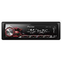 Autoradio Pioneer MVH-280FD - Autoradio WMA MP3 FLAC - 4x100W - iPhone Android USB - Haute Puissance