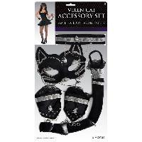 Autre Accessoire Deguisement Vendu Seul Accessoires Renarde en Kit - Costume Femme Adulte