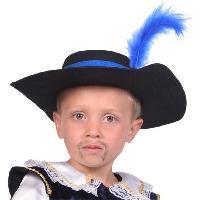 Autre Accessoire Deguisement Vendu Seul CESAR Chapeau Mousquetaire avec Plume - Bleu
