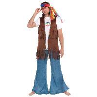 Autre Accessoire Deguisement Vendu Seul Veste Hippie Accessoire Annees 60 - Veste seule
