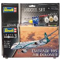 Aviation A Construire REVELL Model-Set Embraer ERJ 195 - Maquette