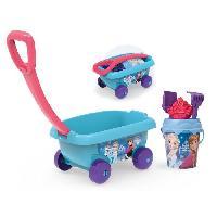Bac A Sable - Sac De Sable LA REINE DES NEIGES Smoby Chariot De Plage Garni - Disney
