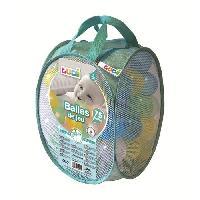 Bac A Sable - Sac De Sable LUDI 75 balles de jeu avec sac de transport Transparent