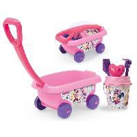 Bac A Sable - Sac De Sable MINNIE Smoby Chariot De Plage Garni - Disney
