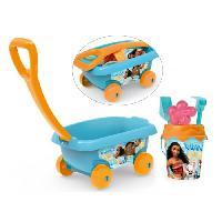 Bac A Sable - Sac De Sable VAIANA Smoby Chariot De Plage Garni - Disney