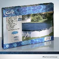 Bache - Couverture - Volet - Enrouleur Bache hiver ronde - Bleu fonce