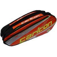 Badminton CARLTON - SAC POUR RAQUETTE DE BADMINTON - KINESIS TOUR 2COMP RKT BAG ORG/SLV