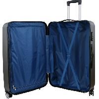 Bagages CITY BAG 03 Set de 3 Valises Trolley Rigide ABS - 8 Roues - 50-60-70 cm - Argent