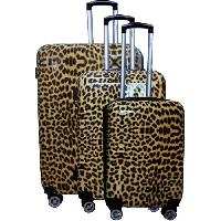 Bagages CITY BAG Set de 3 Valises 48/60/70 cm Leopard Mixte