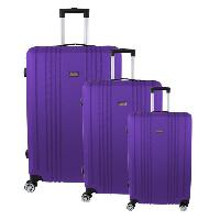Bagages CITY BAG Set de 3 Valises ABS Violet