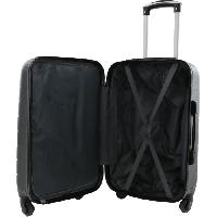 Bagages CITY BAG Valise Cabine 30 x 50 x 21 cm - ABS - 4 Roues - Gris Foncé