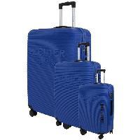 Bagages DANIEL HECHTER Set de 3 Valises Trolley DHVDEAUVILLE Rigide ABS - 8 Roues - Cadenas TSA - 50-60-70 cm - Bleu clair