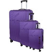 Bagages DANIEL HECHTER Set de 3 Valises Trolley DHVSTTROPEZRigide ABS - 8 Roues - Cadenas TSA - 50-60-70 cm