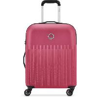 Bagages DELSEY Valise Cabine Lima Trolley Slim 55 Cm 4  Doubles Roues Rose