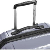 Bagages DELSEY Valise Trolley Brisban 76 cm 4 Roues Doubles + TSA + Polypropylene Gris Argent