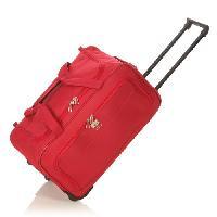 Bagages FRANCE BAG Sac de Voyage a Roulettes Souple 56 cm Rouge