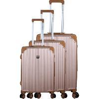 Bagages FRANCE BAG Set de 3 Valises 8 roues Multidirectionnelles ABS Taupe