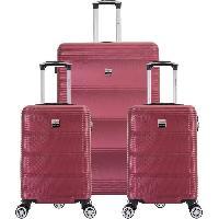 Bagages FRANCE BAG Set de  3 Valises ABS Bordeaux