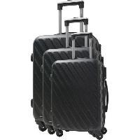Bagages HATCHER Set de 3 Valises 4 Roues S/M/L Noir Aucune