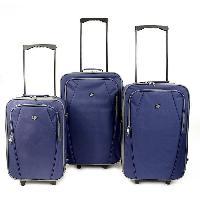 Bagages KINSTON  Set de 3 Valises Textiles Copenhague Bleu