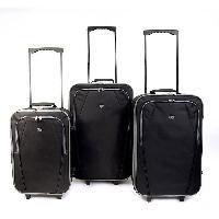 Bagages KINSTON Set de 3 Valises Textiles Copenhague Noir