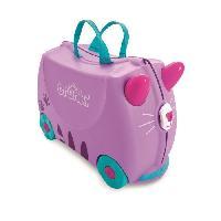 Bagages TRUNKI Ride On Valise a Roulettes Enfant Chat Cassie - 46x30x21 cm - Violet et Bleu Aucune
