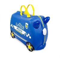 Bagages TRUNKI Ride On Valise a Roulettes Enfant Police Percy - 46x30x21 cm - Bleu et Jaune Aucune