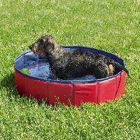 Baignoire De Toilettage Piscine -D80 x H 20 cm - Rouge - Pour chien
