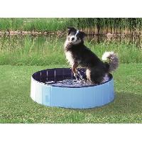 Baignoire De Toilettage Piscine 120x30cm - Bleu clair et bleu - Pour chien