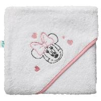Bain Bebe DISNEY Minnie Cape de bain - 80 x 80 cm   Blanc/Rose