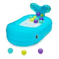 Bain Bebe INFANTINO Baignoire Bébé Gonflable Baleine avec Balles de Jeu