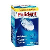 Bain De Bouche - Produit De Soin Des Dents POLIDENT Boîte de 108 Comprimés anti-plaque dentaires et anti-bactériens