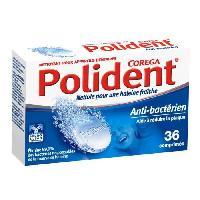 Bain De Bouche - Produit De Soin Des Dents POLIDENT COREGA Nettoyant antibactérien - 36 Comprimés