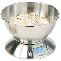 Balance Culinaire Electronique DEK4150 Balance Cuisine Numerique - Inox - 2x1.5 AAA -Pile excl.