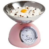 Balance Culinaire Electronique DKW700SD Balance de cuisine - Design retro - Rose Pastel