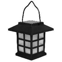 Balise - Borne Solaire Borne solaire lanterne - H 9 cm - Noir