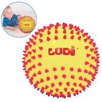Balle - Boule - Ballon LUDI Balle Sensorielle Bicolore - Diametre 15 cm