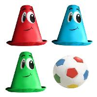 Balle - Boule - Ballon STAMP Pack Foot Balle Et 3 Cones