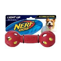 Balle - Frisbee Balle Haltere Flash LED M 7 cm - Bleu et rouge - Pour chien - Pack de 2