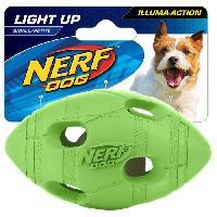 Balle - Frisbee Balle ovale Flash LED S 4 cm - Vert et orange - Pour chien