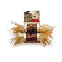 Balle - Frisbee MPETS Rouleaux avec plumes Natura - Jouet pour chat - Couleur mixte
