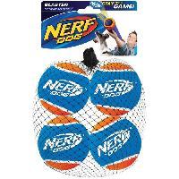 Balle - Frisbee NERF DOG Lot de 4 balles de tennis Blaster - Pour chien Nerfdog
