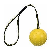 Balle - Frisbee TRIXIE Balle avec sangle Sporting en caoutchouc naturel - D 7 cm-35 cm - Pour chien