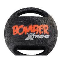 Balle - Frisbee ZEUS Balle Mini Xtreme Bomber en caoutchouc 11.4 cm - Noir et orange - Pour chien