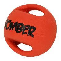 Balle - Frisbee ZEUS Balle en caoutchouc Bomber 17.8 cm - Orange et noir - Pour chien