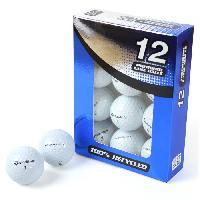 Balle De Golf SECOND CHANCE Lot de 12 Balles de Golf Taylormade TP Red/Black - Blanc