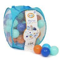 Balles De Piscine A Balles LUDI 75 balles de jeu avec sac de transport Bleu
