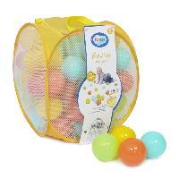 Balles De Piscine A Balles LUDI 75 balles de jeu avec sac de transport Jaune