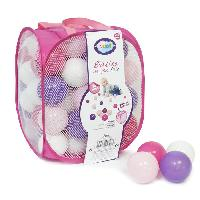 Balles De Piscine A Balles LUDI 75 balles de jeu avec sac de transport Rose